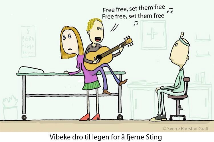 Til legen for å fjerne sting